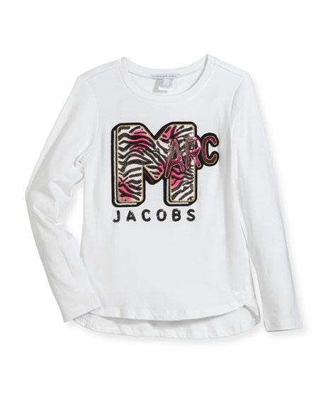 Little Marc Jacobs MTV Logo Long-Sleeve T-Shirt, Size 4-5