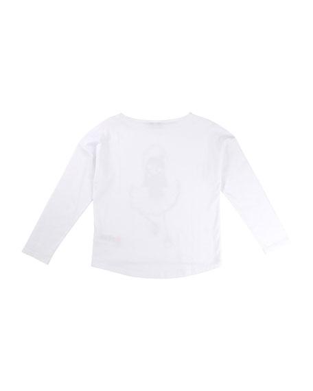 Little Marc Jacobs Miss Marc Long-Sleeve Tee, Size 6-10