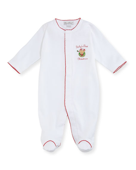 Kissy Kissy Baby's First Christmas Footie Playsuit, Size