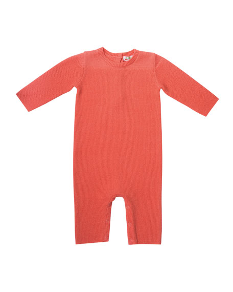 Bonpoint Knit Cotton Coverall, Size 1-12 Months