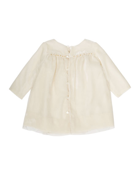 Bonpoint Tulle & Velvet Babydoll Dress. Size 6M-2Y
