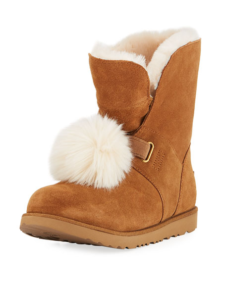 UGG Isley Waterproof Pompom Boot, Youth