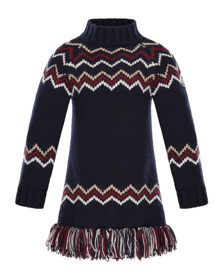 Moncler Abito Tricot Wool-Cashmere Knit Dress, Sizes 8-14