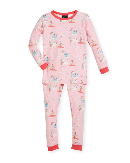 Bedhead Unicorn-Princess-Print Pajama Set, Size 2-8 and Matching