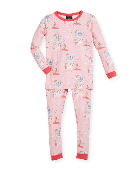 Bedhead Unicorn-Princess-Print Pajama Set, Size 2-8 and Matching
