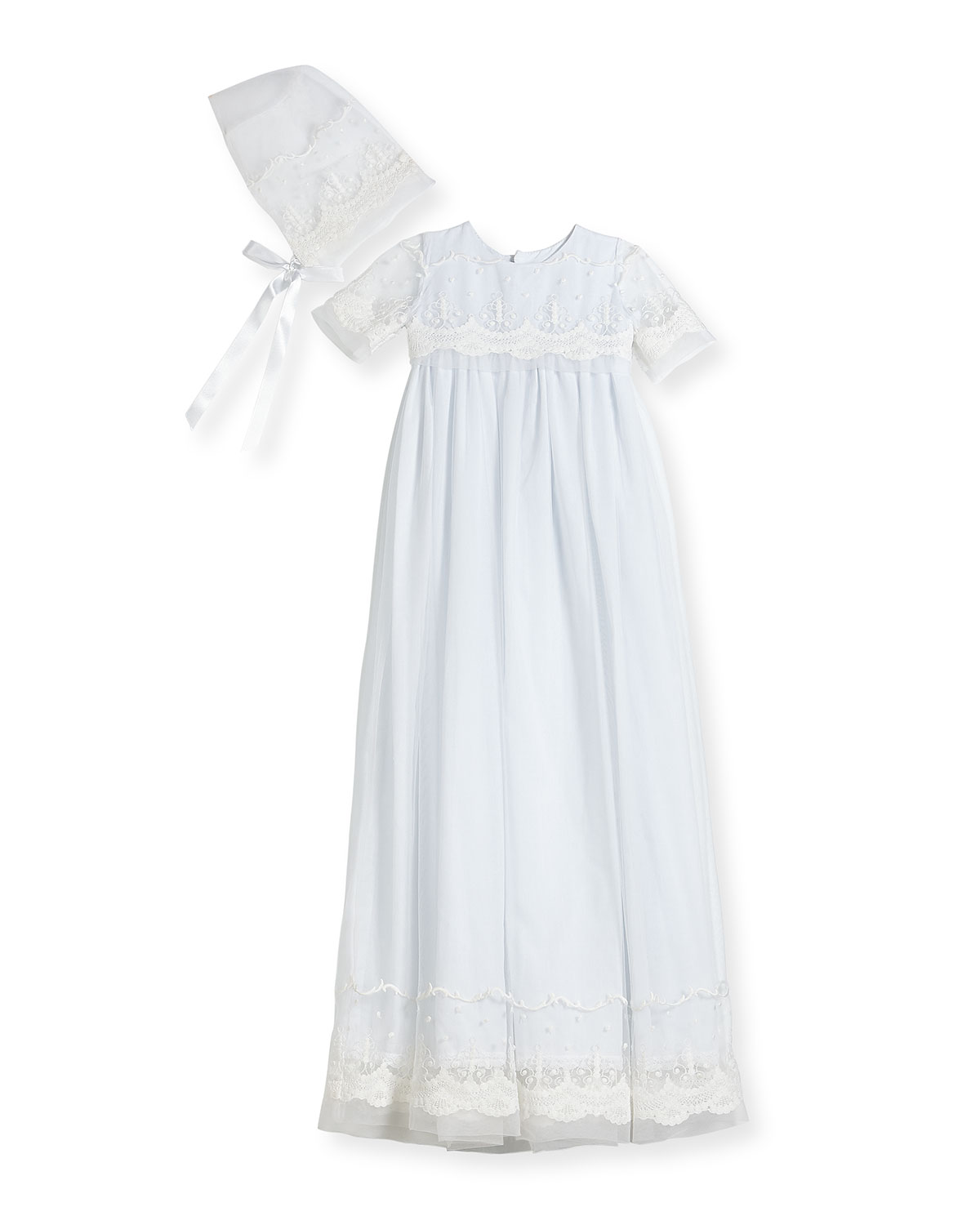 Isabel Garreton Blessing Embroidered Tulle Extra-Long Christening ...