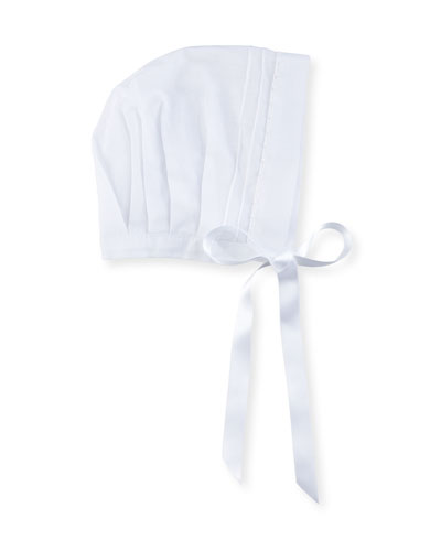 Charming Cotton Batiste Bonnet, Size 3-24 Months