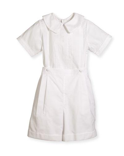 Boys' Sebastian Two-Piece Cotton Ring Bearer Set  White  Size 2-4