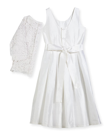 Isabel Garreton Fable Silk Dress w/ Lace Overlay Top, Size 7-10