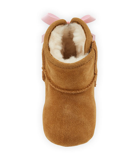 Jesse Bow II Suede Bootie, Infant Sizes 0-12 Months