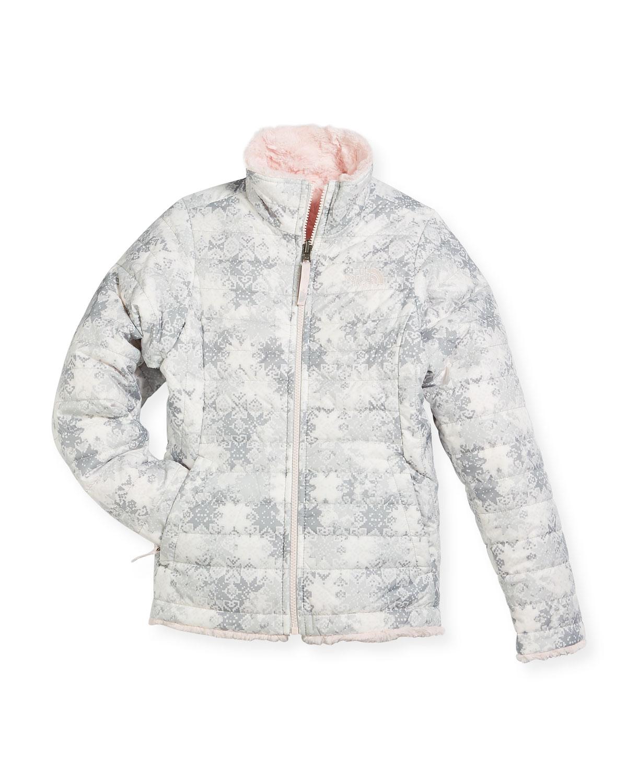 a6d2e2aae Girls' Reversible Mossbud Swirl Jacket, White, Size XXS-XL