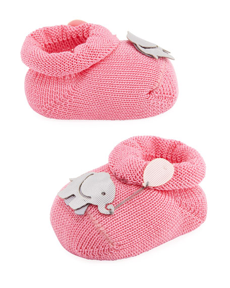 Elephant Booties, Light Blue, Baby
