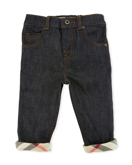 Burberry Relaxed Stretch Jeans, Size 6M-3Y