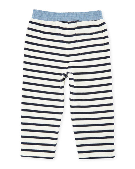 Atlantic Terry Sweater & Striped Pants, Size 9-24 Months