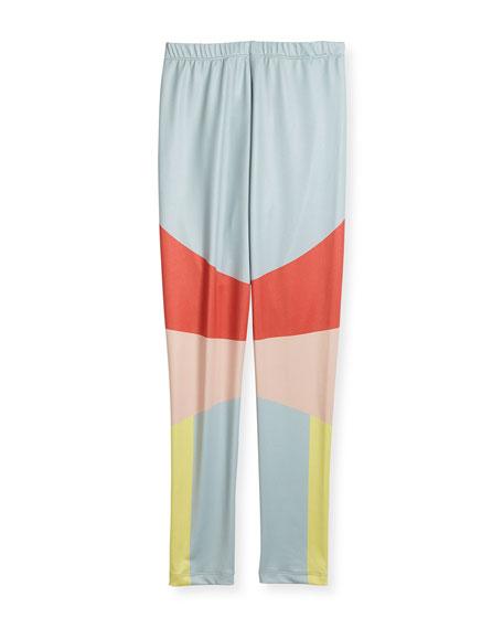 Nikia Sporty Colorblock Leggings, Multi, Size 2-14