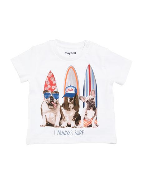 Surfer Dog Cotton T-Shirt, Size 6-36 Months