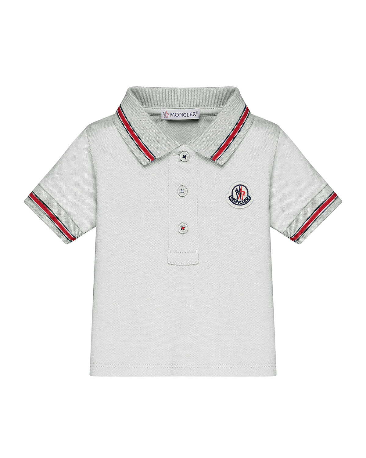 Moncler Short Sleeve Tipped Polo Shirt Size 12m 3t Neiman Marcus