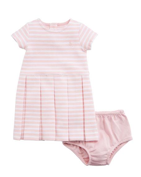 Ralph Lauren Childrenswear Structured Knit Stripe Dress w/
