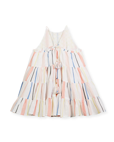 Tiered Spaghetti-Strap Dress, Size 8-12