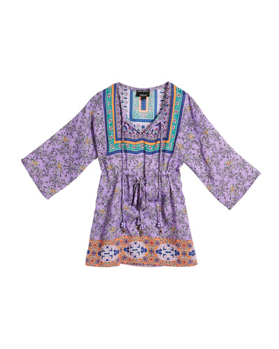 Lily Grace Long-Sleeve Printed Tunic, Size 2T-6X