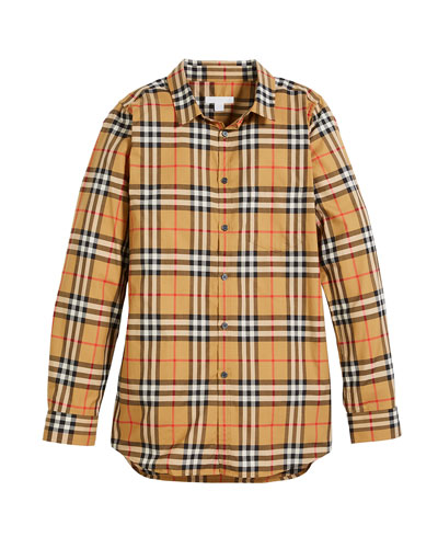 Fred Long-Sleeve Check Shirt  Size 4-14