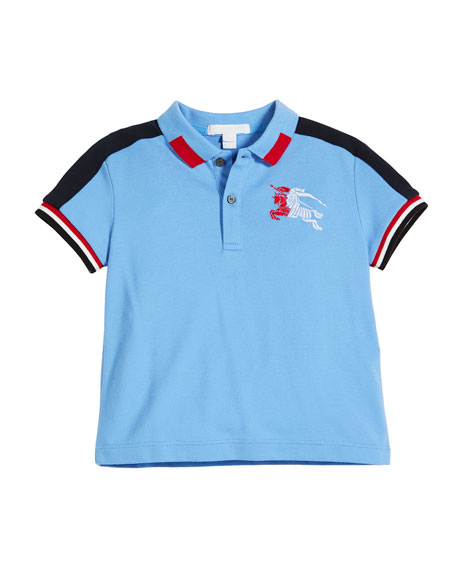 Burberry Eric Multicolored Logo Polo, Size 4-14