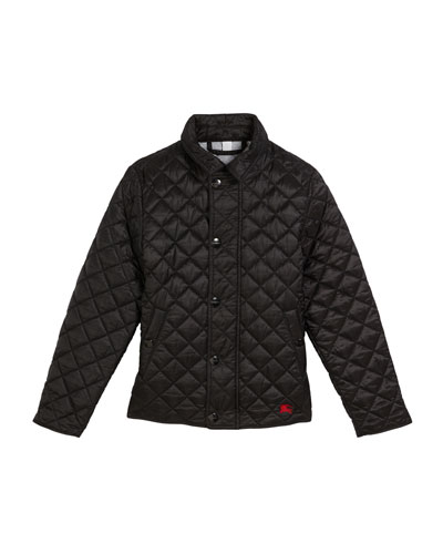 Lyle Quilted Snap Jacket  Size 4-14