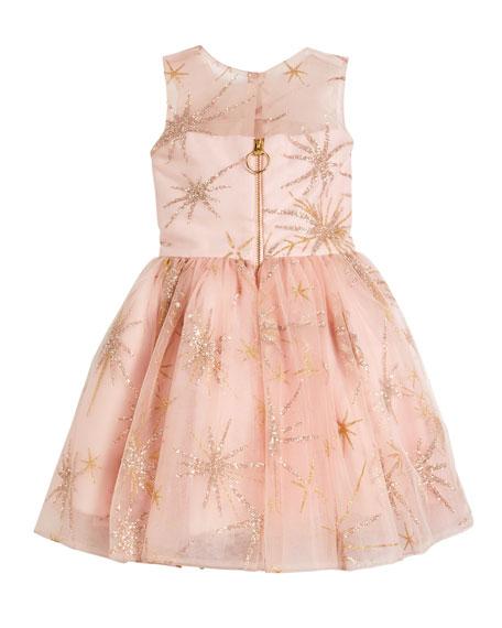 Sunrise Glitter Star Tulle Party Dress, Size 7-16