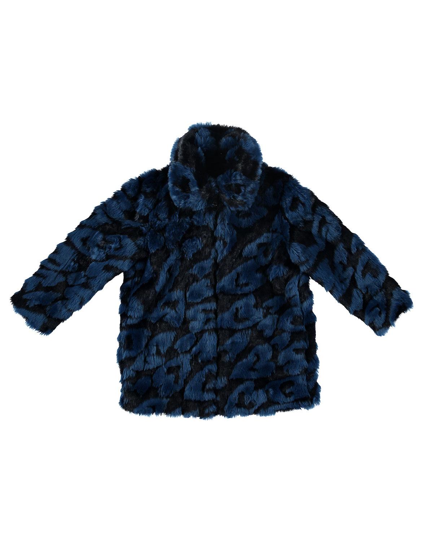 Stella Mccartney Kids Heart Print Faux Fur Jacket Size 4