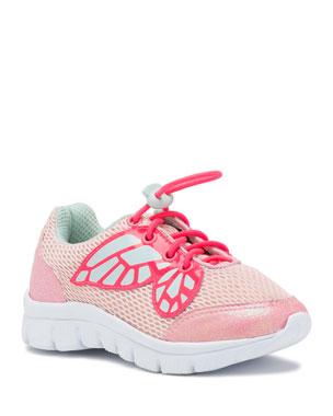 8e682030bb6f Sophia Webster Chiara Mesh Butterfly-Wing Sneakers, Toddler/Kid