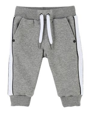 3d5d6b2c Givenchy Sweatpants w/ Logo Sides, Size 2-3