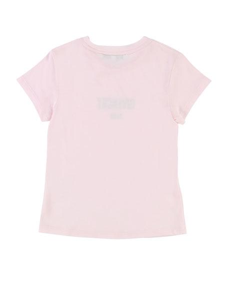Givenchy Short-Sleeve Shiny Logo Tee, Size 6-10