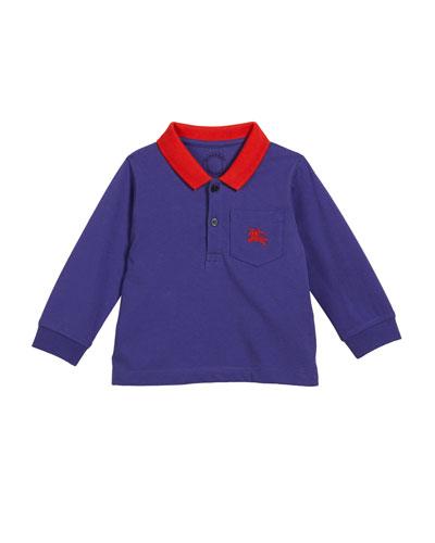 Lael Colorblock Polo Shirt, Size 12M-3