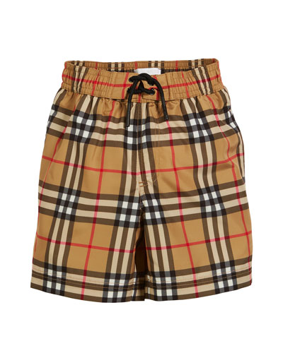 Galvin Check Swim Shorts  Size 3-14