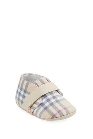 Burberry Charlton Check Booties, Baby