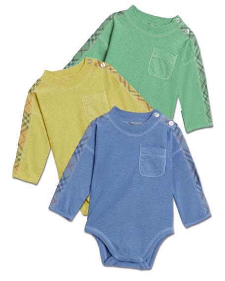 Burberry Alby Bodysuit 3-Piece Layette Set, Size 3-12 Months