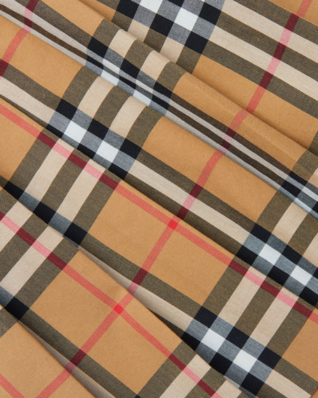 Burberry Pearl Check Pleated Skirt, Size 3-14