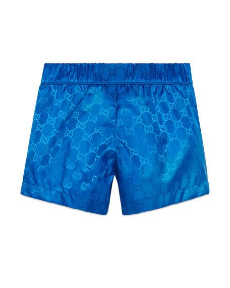 ba9d2ea6d8878 Gucci GG Supreme Swim Trunks, Size 9-36 Months | Neiman Marcus