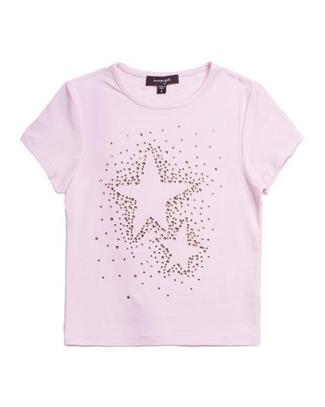 Imoga Studded Star Jersey T-Shirt, Size 7-10