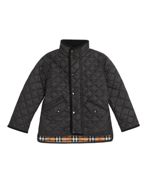 fea9bc402 Burberry Brantley Quilted Snap Jacket, Size 3-14