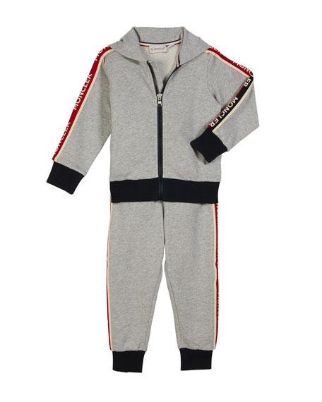 Moncler Two Piece Logo Sweat Suit Size 4 6 Neiman Marcus