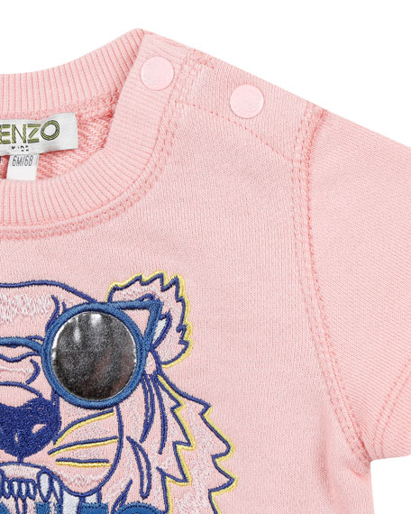 Kenzo Sunglasses Tiger Embroidered Summer Dress, Size 12-18 Months