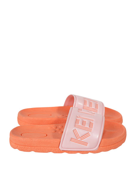 Kenzo Logo Slide Sandals, Toddler/Kids