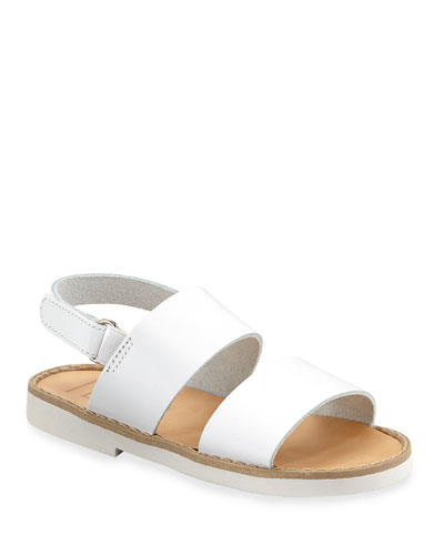 Double Strap Leather Sandal  Toddler