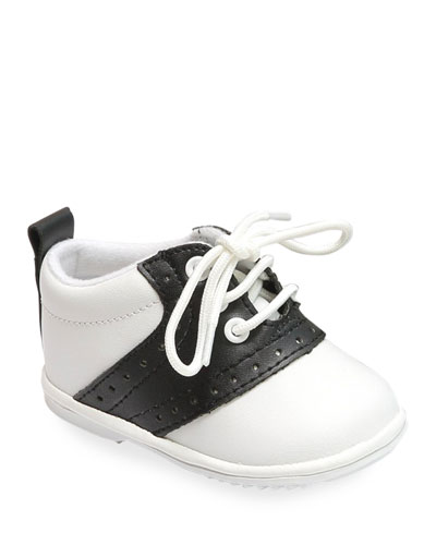 Austin Two-Tone Leather Saddle Oxford Shoes  Baby
