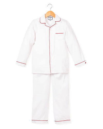 Solid Pajama Set w/ Contrast Piping  Size 6M-14