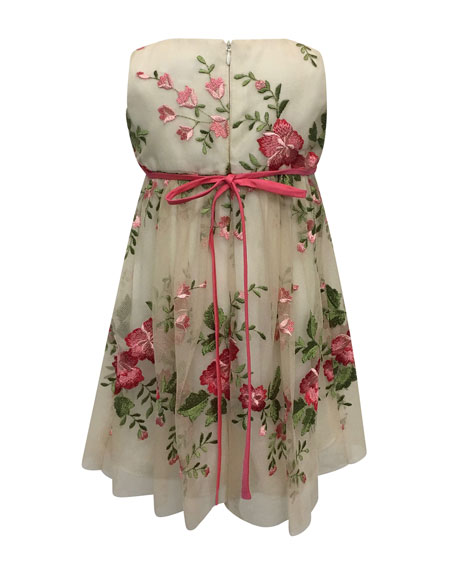 Helena Floral Embroidery Lace Dress, Size 7-14