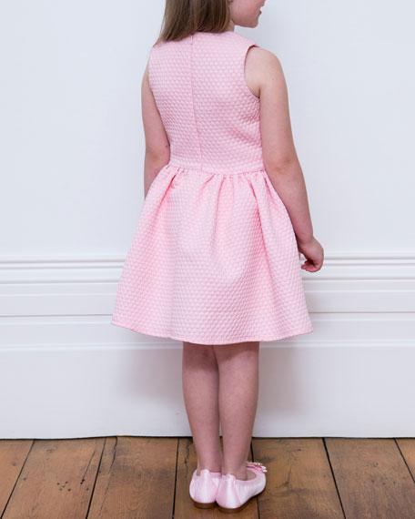 David Charles Piquet Knit Sleeveless Dress w/ Bow Pockets, Size 4-8
