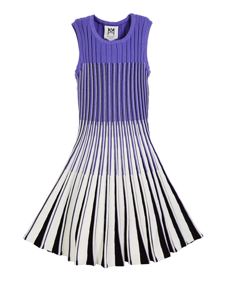 Milly Minis Ombre Flare Knit Dress, Size 7-16