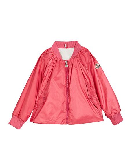 Moncler Nylon Hooded Bomber Jacket, Size 4-6